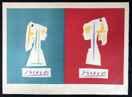 Lithographie Picasso - Sylvette de profil (1954)