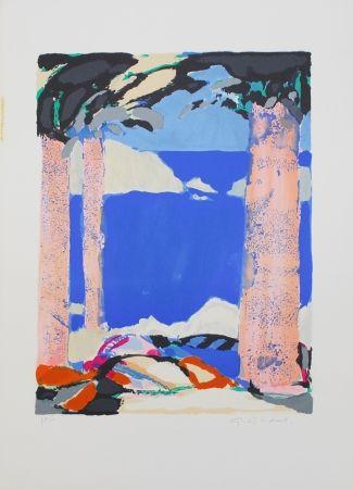 Lithographie Godard - Symphonie en bleu IV