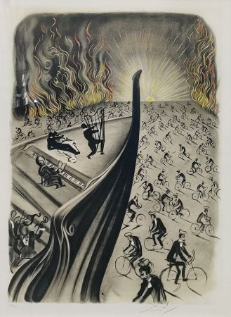 Lithographie Dali - SYMPHONY BICYCLETTE