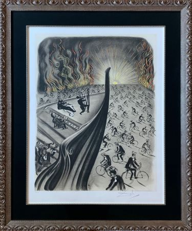 Lithographie Dali - Symphony Bicyclette – Bicycle Symphony
