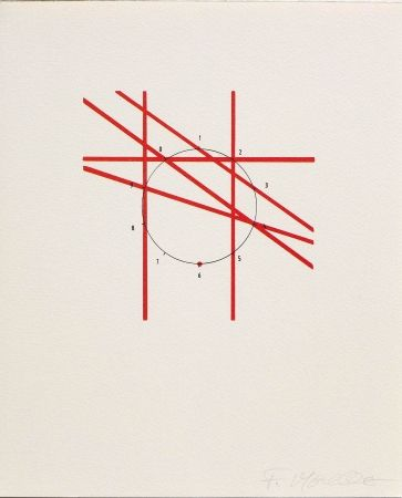 Lithographie Morellet - SYSTEMES, HASARD ET TELEPHONE