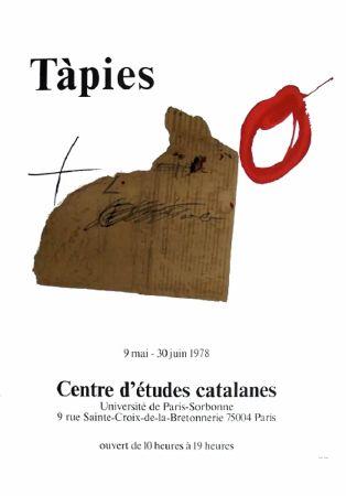 Affiche Tàpies - TÀPIES 78. Affiche pour une exposition à La Sorbonne, Paris.