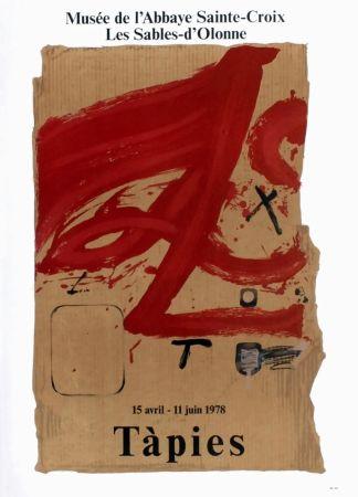 Affiche Tàpies - TÀPIES 78. Affiche pour une exposition à l'Abbaye de Sainte Croix.