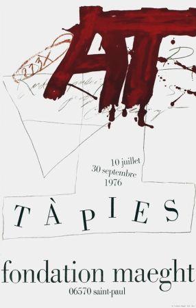 Affiche Tàpies - TÀPIES Expo 76 - Fondation Maeght
