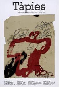 Affiche Tàpies - Tàpies. Barcelona Novembre 1986 - Gener 1987
