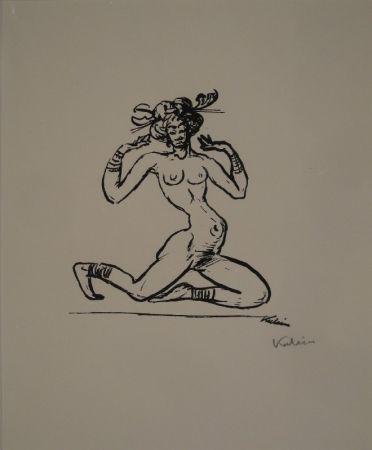 Lithographie Kubin - Tänzerin