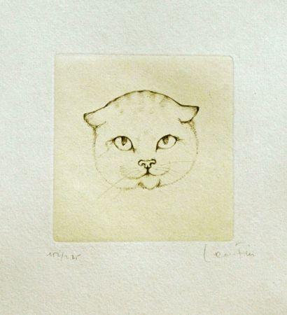 Gravure Fini - Tête De Chat