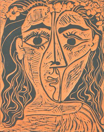 Céramique Picasso - Tête de femme à la couronne de fleurs (Woman's Head with Crown of Flowers), 1964