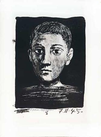 Lithographie Picasso - Tête de jeune garçon