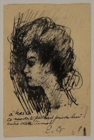Monotype Goerg - Tête de Nesto Jacometti