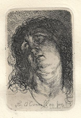 Gravure O'connell - Tête de Sainte-Madeleine