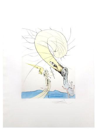 Lithographie Dali - Tête d'Escargot