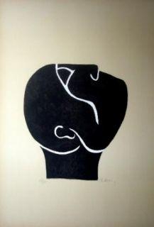 Lithographie Ubac - Tête Levée