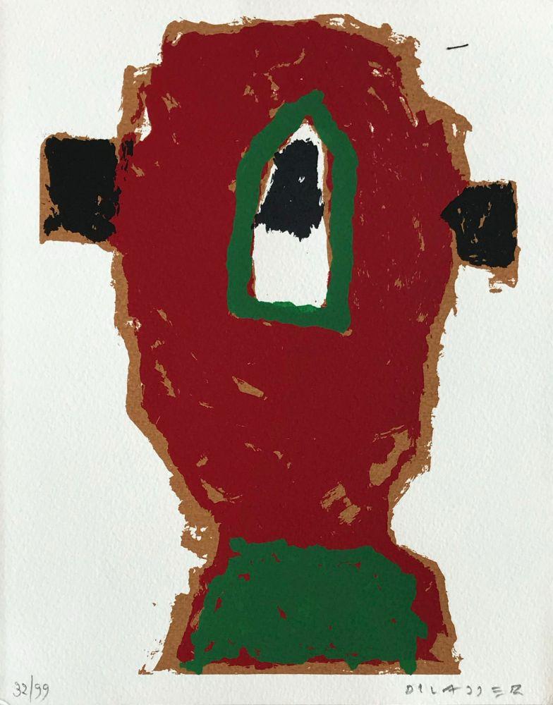 Sérigraphie Dilasser - Tête rouge, 2005