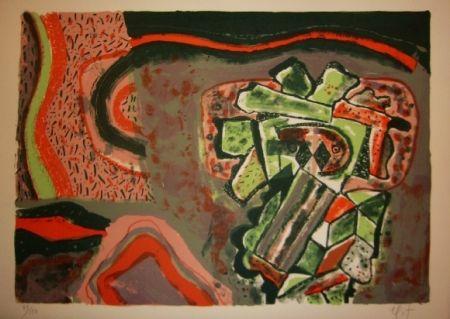 Lithographie Nieto - Tête verte