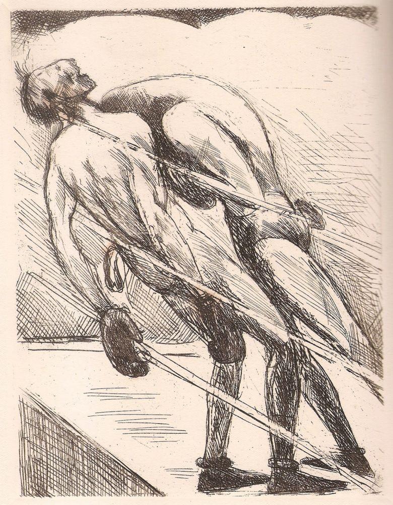Livre Illustré De Segonzac - Tableau de la boxe
