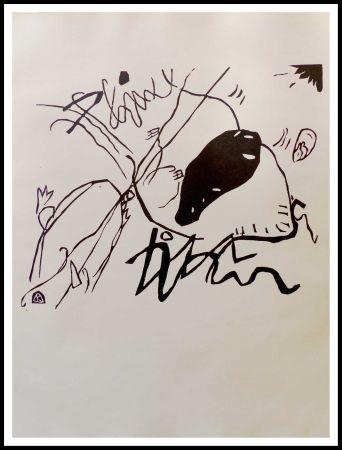 Gravure Sur Bois Kandinsky - TACHE NOIRE
