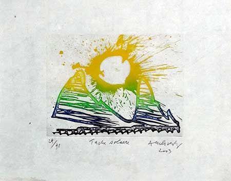 Gravure Alechinsky - Tache Solaire