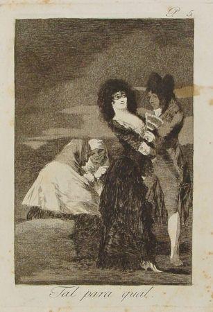 Gravure Goya - Tal para cual