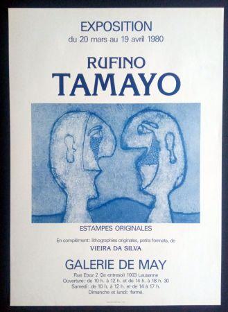 Affiche Tamayo - Tamayo - Estampes Originales - Galerie de May 1980