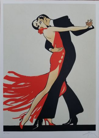 Lithographie Gruau - Tango