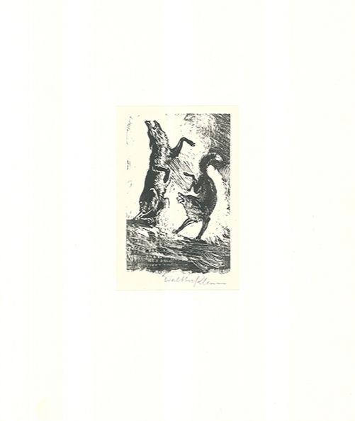 Gravure Sur Bois Klemm - Tanz der Tiere