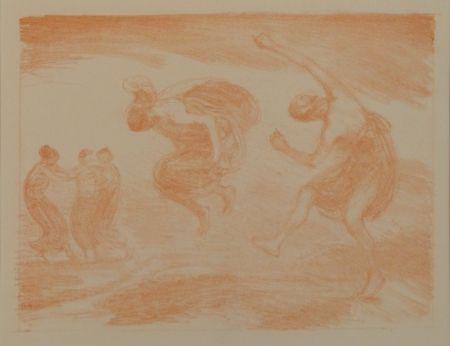 Lithographie Hofmann - Tanzende Mädchen (Springende Mädchen)