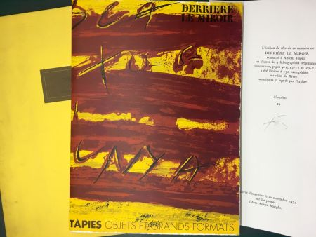 Livre Illustré Tàpies - TAPIES : Objets et grands formats. DERRIÈRE LE MIROIR N° 200. 1972 - DE LUXE SIGNÉ.