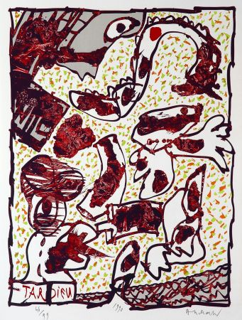 Lithographie Alechinsky - Tardieu