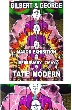 Affiche Gilbert & George - Tate modern gallery violet