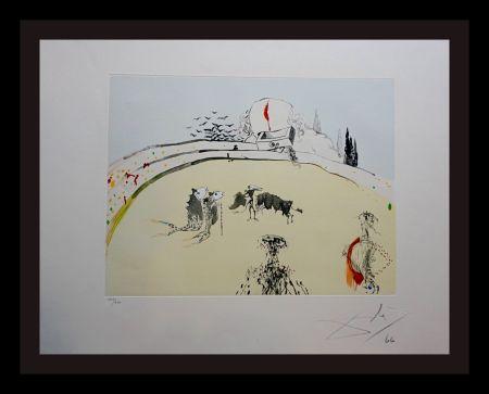 Gravure Dali - Tauramachi Surrealiste Bullfight with Drawer