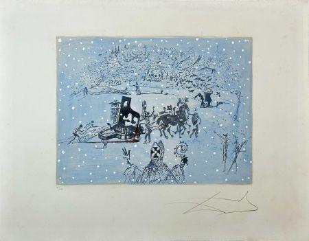 Gravure Dali -  Tauramachie Surrealiste The Piano In The Snow