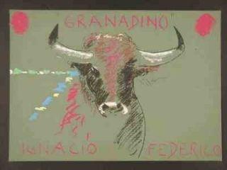 Sérigraphie Mondino - Taureau