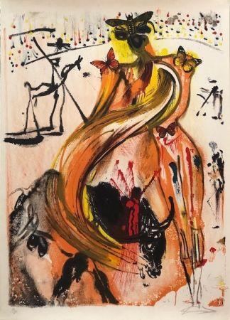 Lithographie Dali - Tauromaquia con mariposas