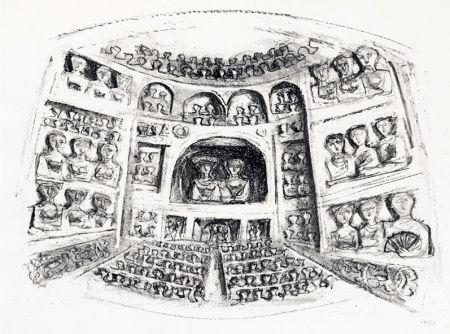 Lithographie Campigli - Teatro