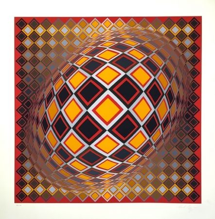 Sérigraphie Vasarely - Teke