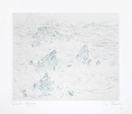 Lithographie Monet - Tempête à Belle-île