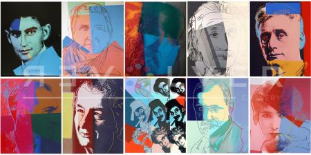 Sérigraphie Warhol - Ten Portraits of Jews of the Twentieth Century (Trial Proof) (Full Suite)