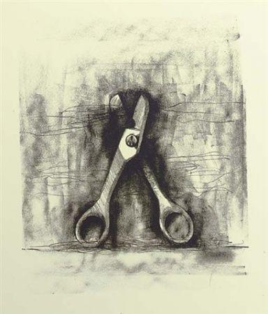 Lithographie Dine - Ten winter tools (Scissor)