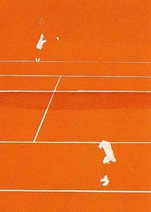 Lithographie Aillaud - Tennis