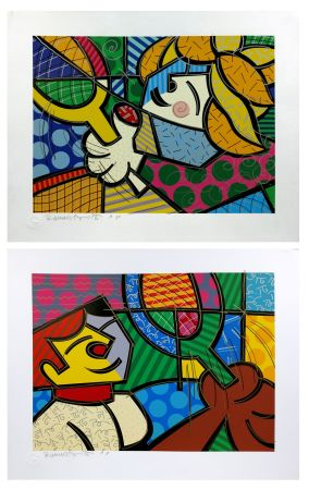 Sérigraphie Britto - TENNIS SUITE (EMBELLISHED)