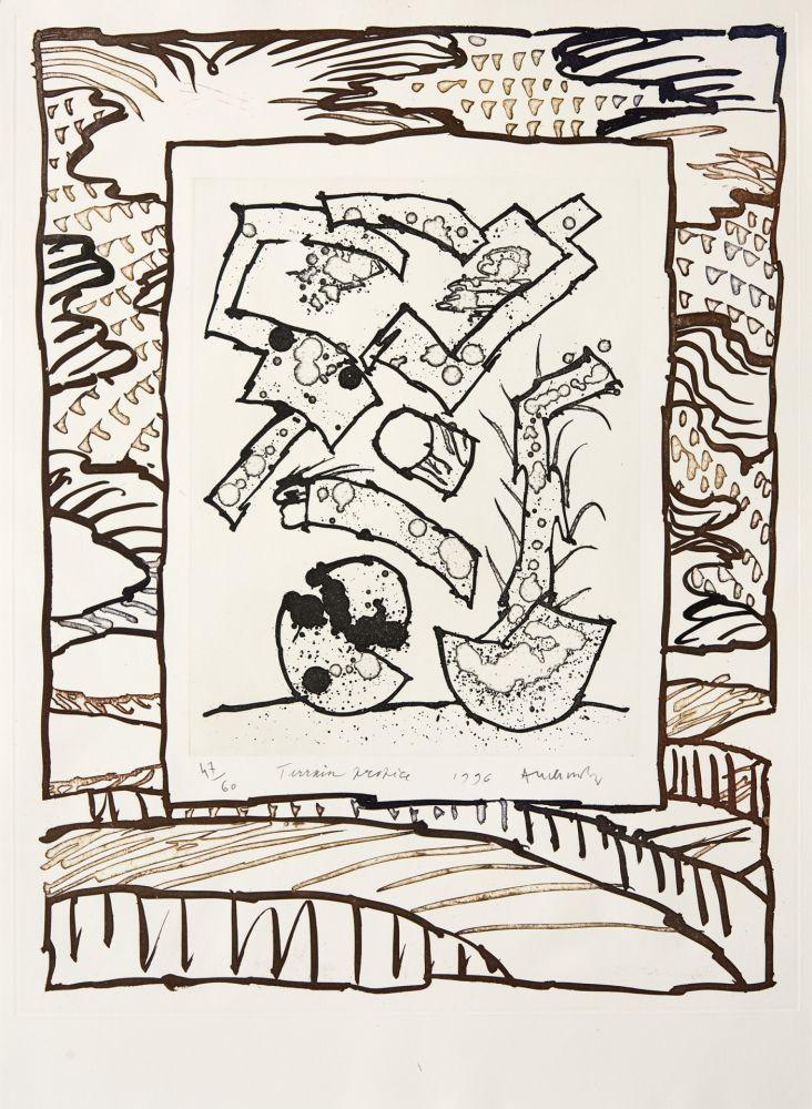Gravure Alechinsky - Terrain propice