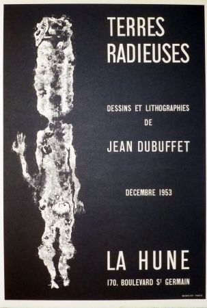 Lithographie Dubuffet - Terre radieuse, la hune
