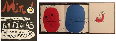 Lithographie Miró - Terres de Grand Feu (1956)
