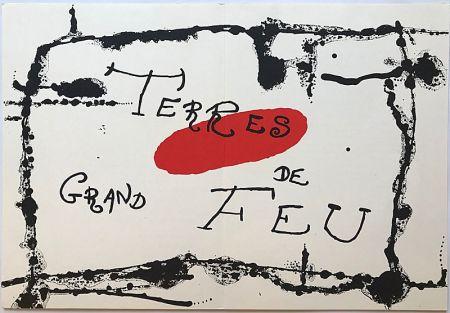 Lithographie Miró - Terres de Grand Feu I (1956)