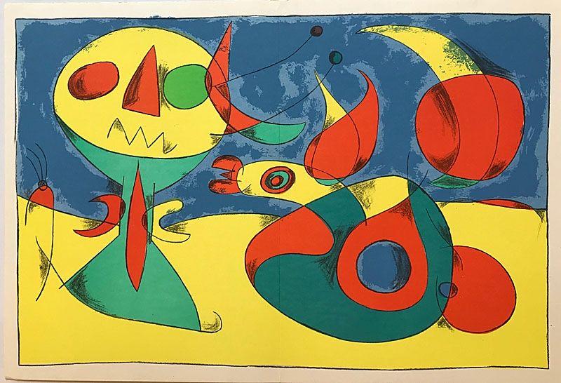 Lithographie Miró - Terres de Grand Feu II (1956)