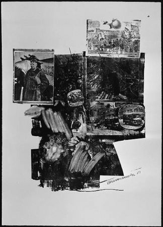 Lithographie Rauschenberg - Test Stone #2, from Booster and 7 Studies
