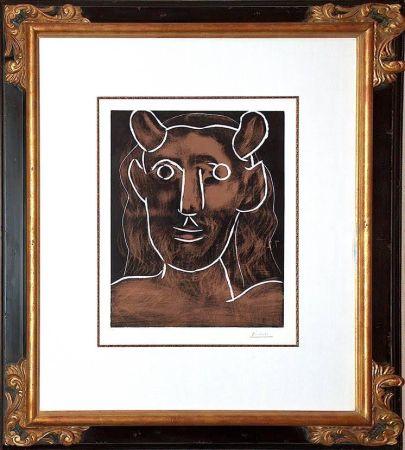 Linogravure Picasso - Tete De Faune (B. 1094)