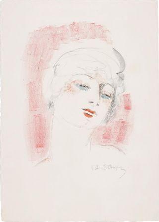 Linogravure Van Dongen - Tete de Femme