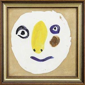 Céramique Picasso - Tete Polychrome